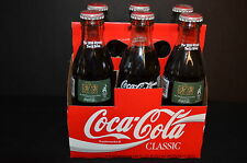 1996 COCA COLA 6 PACK OLYMPIC COMMERATIVE GLASS BOTTLES
