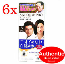 6X SALON de PRO Hair by Dariya, no smell, Color 6 (Dark Brown) (New!)