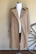 YVES SAINT LAURENT Mens Vintage Tan Beige Long Trench Coat France