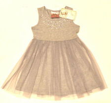 Beautees Girls Grey Embellished Jewels Ballerina Party Dress - 4 Years BNWT