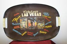 Vintage 1970s Las Vegas Strip Souvenir Cocktail Serving Tray - Casinos - Hotels