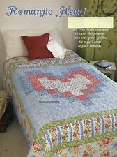 Romantic Heart Quilt Pattern Pieced LF