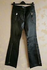 Morgan womens 100% leather pig nappa trousers size:36 NEW