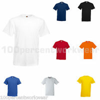 Fruit of the Loom Plain 100% Cotton Heavy Crew Neck Short Sleeved T Shirt Tee