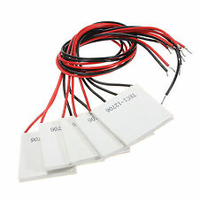 5 x TEC1-12706 12V 60W Thermoelectric Cooler Heat Sink Cooling Peltier Module