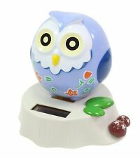 Eco-Friendly Solar Toy Owl Lover Praying Gift Home Decor Light Blue US Seller
