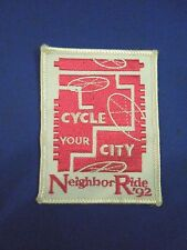 Vintage 1992 Cycle You City Neighbor Ride Bicycle Patch