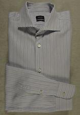 Klassisches JOOP! Freizeit Hemd, 100% Baumwolle indigo-grau-weiß gestreift KW 42