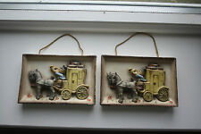 "A PAIR ""The Mail Is Here"" Goebel Hummel Wall Plaque PATTERN 140"