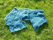 Hand Knitted Mohair Scarf/Wrap