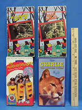 Childrens VHS Movies Animal Disney Educational Child Movie Charlie Cougar Lot 4