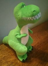 "DISNEY STORE TOY STORY REX THE DINOSAUR 8"" TALL  CHARACTER PLUSH SOFT TOY"