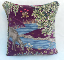 William Morris Fabric Cushion Cover 'The Brook' Tapestry Red - Cotton Velvet