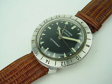 BULOVA ACCUTRON MENS WATCH 1964 ASTRONAUT GMT SS CASE 24 HOUR BEZEL
