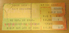 1981 OZZY OSBOURNE MOTORHEAD CONCERT TICKET BLIZZARD OF OZZ  WITH RANDY RHOADS