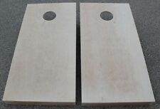 "UNFINISHED CORNHOLE BOARDS BEANBAG TOSS GAME SET w ""pick your colors"" bags"