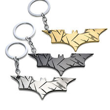 New 3pcs Alloy Batman Black Wings Metal Keychain Boys Gift Superhero Key Ring