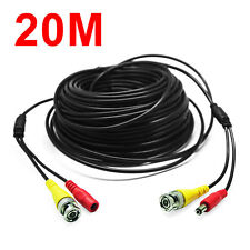 20M BNC RCA Audio Video Power Extension Cable DVR Wire for CCTV Security Camera