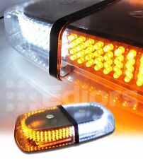 240 LED White Amber Roof Top Magnetic Emergency Warning Snow Plow Strobe Light