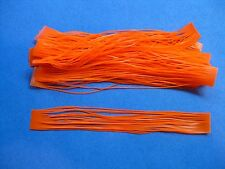 10 Silicone Skirt Tab  Orange Lure Making Craft Bass Jig Spinner Bait Strip Kits