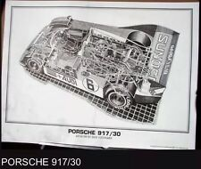 Porsche 917/30 Cutaway!Art: Shin Yoshikawa/ OWN IT! Car Poster!!!
