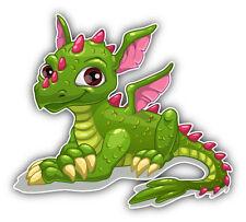 Dragon Baby Cute Cartoon Car Bumper Sticker Decal 5'' x 4''