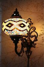 Bunt Türkisch Marokkanischer Stil Mosaik Wandleuchter Licht Groß Globus