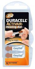 Duracell Easytab/Activair Typ 312 Hörgerätebatterie Zinc Air P312 PR70 ZL4, 60 S