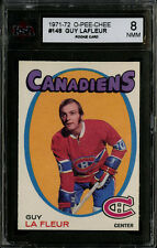 1971-72~O-PEE-CHEE~#148~GUY LAFLEUR~HOF ROOKIE CARD~CANADIENS~KSA 8 NM-MT