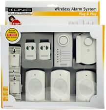 NEW PLUG & PLAY WIRELESS ALARM SYSTEM, 3 DOOR/WINDOW, 3 PIR SENSORS, 2 REMOTES