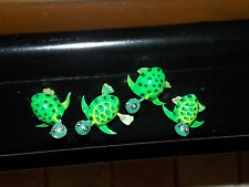 NEW 4pc TURTLE WITH MOVING HANDS & FEET REFRIGERATOR MAGNETS DECORATION ADORABLE