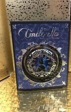 Sephora Disney Collection Cinderella Clock on Front, Compact Mirror, Silver NEW
