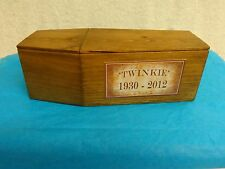 RARE Handmade Hostess Twinkie Wooden Coffin with Lid