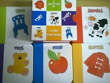 A Collection of 5 Chunky Baby Board Books - (Educational - Food, Home, Animals)