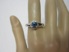 STUNNING ESTATE 14 KT GOLD .72 CTW VIVID BLUE DIAMOND RING 4.6 GRAMS !!!!!!
