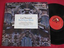 CLASSICAL LP - CARL WEINRICH - BACH ORGAN MUSIC - RCA LIVING STEREO LSC-2557 SD