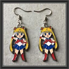 SAILOR MOON ENAMEL CHARMS  FISHHOOK EARRINGS/BRAND NEW #99