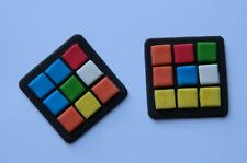 12 edible CUBE PUZZLE 80's CUPCAKE cake topper DECORATION retro BRAIN GAME nerd
