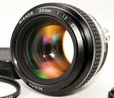 Nikon NIKKOR Ai 50mm f/1.2 Lens w/ Caps and Filter Free Shipping from Japan