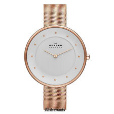 NEW SKAGEN WATCH for Women * Gitte Rose Gold Tone Steel Mesh Bracelet * SKW2142