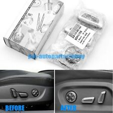 PM Matt Chrome Seat Adjustment Switch Button Trims for Audi A6 A7 Q3 2012-2016
