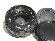 SEARS 50mm F/2 lens with caps for PENTAX K (PK) mount camera  SN197804  AS IS