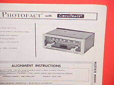 1964 1965 ALLSTATE SEARS AUTO CAR FM CONVERTER RADIO SERVICE MANUAL 833.50181