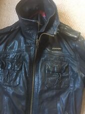 "Super dry Leather Jacket Men's 2xl (42"" Chest)"