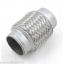 Stainless Steel Exhaust Flexipipe 55mm x 100mm Flexi Repair Joint Flexible Pipe
