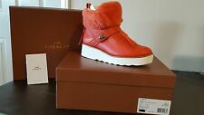 Coach Women's Boots Orange Urban Hiker Shearling - Size 6