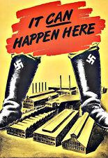 Pubblicità d'arte tedesco WW II può capitare qui Poster di propaganda factorys stampa