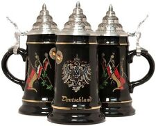 Black Deutschland Germany Flags German Beer Stein  .25L One Mug Made in Germany