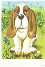 Künstler-Postkarte AK  Hund (Flieger, DDR 1974 unbeschrieben)