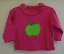 New In Bag Kelly's Kids Raspberry Rose Lime Apple Applique Top ~ Girl's 18 Month